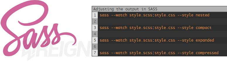 Different Sass Output Styles