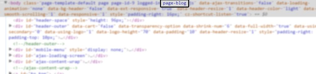Add Page Slug or name Class in Body tag of your WordPress pages