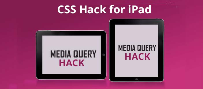 CSS hack for iPad only