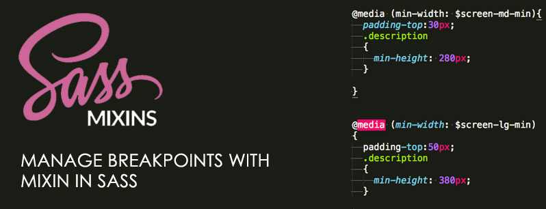 Manage Breakpoints with Mixin in SASS