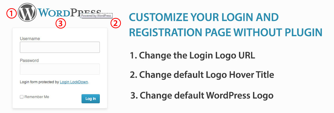 Change the Login Logo, Logo URL and Logo Hover Title in WordPress