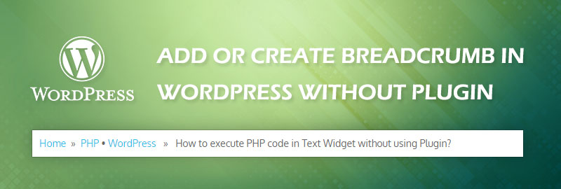 Add Breadcrumb in WordPress without Plugin