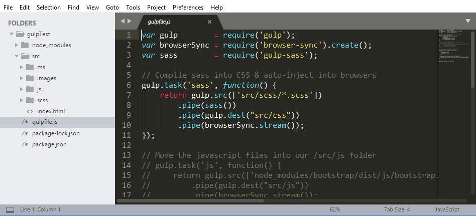 Gulp Folder Structure